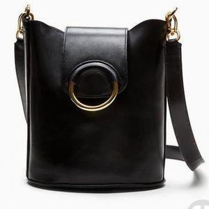 Banana Republic Black Leather Bucket bag